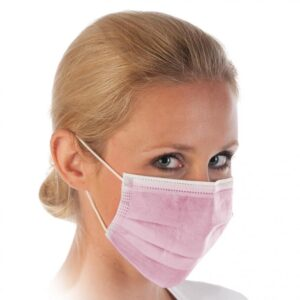 3-kihilised suu-nina maskid (roosa)