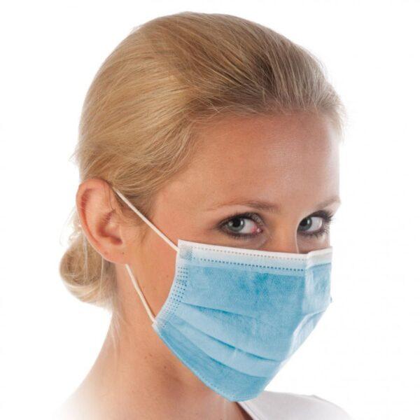 3-kihilised suu-nina maskid (sinine)
