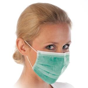 3-kihilised suu-nina maskid (roheline)